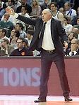 Real Madrid's coach Pablo Laso during Euroleague Quarter-Finals 3rd match. April 19,2016. (ALTERPHOTOS/Acero)