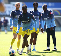 17th April 2021; Liberty Stadium, Swansea, Glamorgan, Wales; English Football League Championship Football, Swansea City versus Wycombe Wanderers; Fred Onyedinma of Wycombe Wanderers looks to pass during warm up