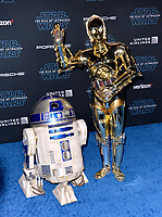 "LOS ANGELES, USA. December 17, 2019: R2D2 & C3PO at the world premiere of ""Star Wars: The Rise of Skywalker"" at the El Capitan Theatre.<br /> Picture: Paul Smith/Featureflash"