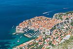 Croatia, Dubrovinik, Looking Down on Dubrovnik Old Town