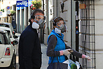 Europe Virus Outbreak - Italy's Daily Life on May 4, 2020. Italy is not anymore under a lockdown, confinement to avoid the spread of the pandemic of the Novel Coronavirus Sars-Cov-2. Daily life in the Phase 2 (Reopening).  Shopping!