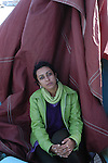 Indian author Jha Rhadika at Saint Malo book fair.