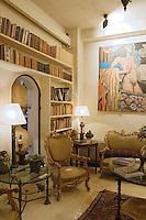 Asie/Israel/Tel-Aviv-Jaffa/Jaffa: Maison-Musée de l'artiste Ilana Goor (Gur) - Ilana Goor Muséum - Détail de salon