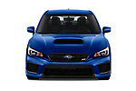 Car photography straight front view of a 2019 Subaru WRX STI Base 4 Door Sedan