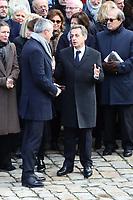 Muriel Penicaud - Bruno Lemaire - Nicolas Sarkozy - Carla Bruni-Sarkozy - Hommage National ‡ JEAN D'ORMESSON - 08/12/2017 - Hotel des Invalides - Paris - France