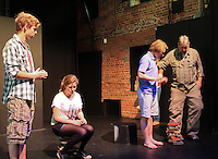 "The Yvonne Arnaud Youth Theatre rehearsing ""The Lion, the Witch and the Wardrobe"", Guildford, Surrey.  Adam Forde, Director, on the right."