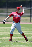 March 30, 2010:  Outfielder Brian Gump of the Philadelphia Phillies organization during Spring Training at Carpenter Complex in Clearwater, FL.  Photo By Mike Janes/Four Seam Images