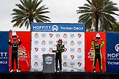 #26: Colton Herta, Andretti Autosport Honda, winner<br /> #2: Josef Newgarden, Team Penske Chevrolet<br /> #22: Simon Pagenaud, Team Penske Chevrolet