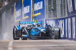 Nicolas Prost of France from Renault e.dams crashes out in the Formula E Qualifying Session 1 during the FIA Formula E Hong Kong E-Prix Round 1  at the Central Harbourfront Circuit on 02 December 2017 in Hong Kong, Hong Kong. Photo by Marcio Rodrigo Machado / Power Sport Images