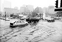 Innondation du 14 juillet 1987.<br /> <br /> <br /> <br /> <br /> <br /> <br /> Montreal (QC) Canada- 1987 File Photo -