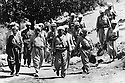 Iraq 1974 <br />  The resumption of hostilities, General Barzani, first rank,in the middle and members of his cabinet, right, Mahmoud Osman and left, Ali Abdullah , near Nawpurdan<br /> Irak 1974 <br /> La reprise de la lutte armée, premier rang,au centre le General Barzani avec a droite Dr.Mahmoud Osman et a gauche, Ali QAbdullah, membres de son etat-major