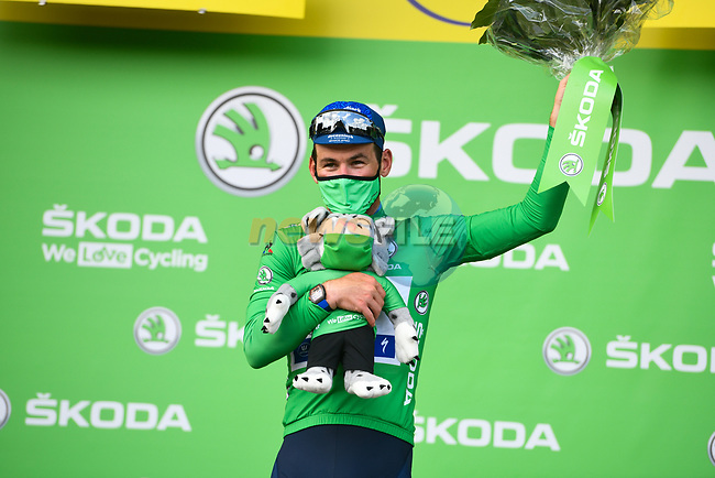 Mark Cavendish (GBR) Deceuninck-Quick Step wins Stage 6 and retains the points Green Jersey of the 2021 Tour de France, running 160.6km from Tours to Chateauroux, France. 1st July 2021.  <br /> Picture: A.S.O./Charly Lopez | Cyclefile<br /> <br /> All photos usage must carry mandatory copyright credit (© Cyclefile | A.S.O./Charly Lopez)