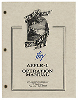 BNPS.co.uk (01202 558833)<br /> Pic: RRAuction/BNPS<br /> <br /> Pictured: The Apple-1 computer manual.<br /> <br /> A fully-working Apple-1 computer has sold for £273,000.<br /> <br /> The pioneering machine is one of the 200 'motherboards' Apple founder Steve Jobs and his associate Steve Wozniak designed in 1976.<br />  <br /> Around 70 Apple-1 computers are known to exist today and of those less than 10 still work.