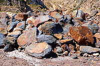 Mined Emery rocks on Naxos, Greek Cyclades Islands