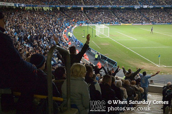 Manchester City 1 West Ham United 2, 20/03/2006. City of Manchester Stadium, FA Cup 6th Round. Photo by Paul Thompson. Manchester City 1 West Ham United 2, 20/03/2006. City of Manchester Stadium, FA Cup 6th Round. West Ham reached the FA Cup final, losing to Liverpool. Manchester City was bought by Thaksin Shinawatra for £81.6 million in June 2007. Manager Stuart Pearce was replaced by Sven Goran Eriksson. Photos by Paul Thompson.