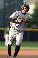Trenton Thunder Shortstop Luis Nunez (21) during a game vs. the Erie Seawolves at Jerry Uht Park in Erie, Pennsylvania;  June 23, 2010.   Trenton defeated Erie 12-7  Photo By Mike Janes/Four Seam Images