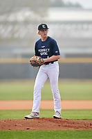 Pitcher Jackson Arnold (1) during the Perfect Game National Underclass East Showcase on January 23, 2021 at Baseball City in St. Petersburg, Florida.  (Mike Janes/Four Seam Images)
