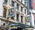 """Theatre Marquee unveiling for """"Sea Wall / A Life"""" starring Jake Gyllenhaal and Tom Sturridge at the Hudson Theatre Theatre on July 23, 2019 in New York City."""