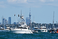 13th March 2021; Waitemata Harbour, Auckland, New Zealand;  Spectators await the start of racing. Day 3 of the America's Cup presented by Prada. Auckland, New Zealand, Saturday the 13th of March 2021.