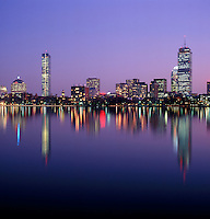 Back Bay skyline charles River Boston MA