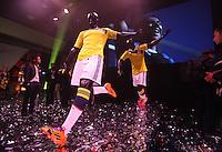 BOGOTA -COLOMBIA- 07 -11--2013. Ceremonia de presentacion  de la nueva camiseta que portara la seleccion Colombia de futbol de mayores en el mundial  de Brasil 2014 / Ceremony of presentation of the new shirt that used the selection Colombia older soccer in the World Cup in Brazil 2014. (Photos: VizzorImage / Stringer
