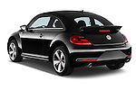 Car pictures of rear three quarter view of a 2014 Volkswagen Beetle Sport R-Line 3 Door Hatchback 2WD Angular Rear