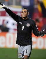 Costa Rica goalkeeper Keilor Navas (1)  The USMNT tied Costa Rica 2-2 on the final game of the 2010  FIFA World Cup Qualifying round at RFK Stadium,Wednesday  October 14 , 2009.