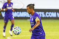 KANSAS CITY, KS - SEPTEMBER 23: Nani #17 of Orlando City with the ball during a game between Orlando City SC and Sporting Kansas City at Children's Mercy Park on September 23, 2020 in Kansas City, Kansas.