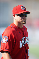Auburn Doubledays manager Jerad Head (11) before a game against the Mahoning Valley Scrappers on June 19, 2016 at Falcon Park in Auburn, New York.  Mahoning Valley defeated Auburn 14-3.  (Mike Janes/Four Seam Images)