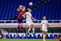 SAITAMA, JAPAN - JULY 24: Samantha Mewis #3 of USA battles with Hannah Wilkinson #17 of New Zealand for a ball during a game between New Zealand and USWNT at Saitama Stadium on July 24, 2021 in Saitama, Japan.