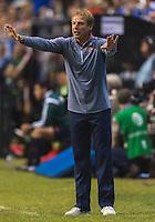 United States' Head Coach Jurgen Klinsmann during an international friendly at the Alamodome, Wednesday, April 15, 2015 in San Antonio, Tex. USA defeated Mexico 2-0. (Mo Khursheed/TFV Media via AP Images)