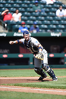 ***Temporary Unedited Reference File***Northwest Arkansas Naturals catcher Zane Evans (8) during a game against the Springfield Cardinals on April 27, 2016 at Hammons Field in Springfield, Missouri.  Springfield defeated Northwest Arkansas 8-1.  (Mike Janes/Four Seam Images)