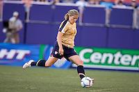 Cat Whitehill prepares a kick. USA defeated Brazil 2-0 at Giants Stadium on Sunday, June 23, 2007.