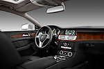 Passenger side dashboard view of a 2012 Mercedes CLS Class