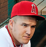 Mike Trout before game against Seattle Mariners.