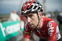 Thomas De Gendt's (BEL/Lotto-Soudal) post-race face<br /> <br /> Belgian National Road Cycling Championships 2016<br /> Les Lacs de l'Eau d'Heure