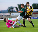 East Fife keeper Dylan Rooney saves at the feet of Callum Crane.