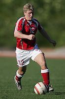 MAR 11, 2006: Quarteira, Portugal:  Denmark midfielder Lene Jensen