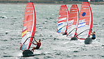 Marina Alabau (left) from Spain Maayan Davidovich from Israel  in action in class  Rsx during the ISAF Sailing World Championships 2014 at the Real Club Maritimo of Santander on September 19, 2014 in Santander, Spain. Photo by Nacho Cubero / Power Sport Images