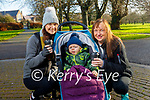 Enjoying a stroll in the Tralee town park, l to r: Jessica and Archie Bradley and Bernadette Corridon