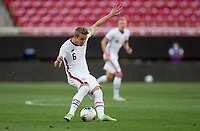 ZAPOPAN, MEXICO - MARCH 21: Jackson Yueill #6 of the United States passes off the ball during a game between Dominican Republic and USMNT U-23 at Estadio Akron on March 21, 2021 in Zapopan, Mexico.