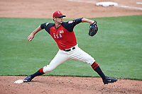 Team USA pitcher Tyler Beede (11) in action during the MLB All-Star Futures Game on July 12, 2015 at Great American Ball Park in Cincinnati, Ohio.  (Mike Janes/Four Seam Images)