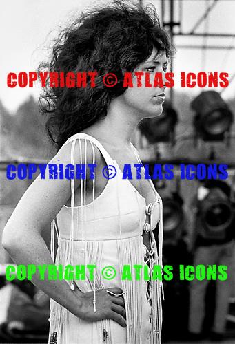 Grace Slick at Woodstock 1969, Bethel, NY.<br /> Photo Credit: Baron Wolman\AtlasIcons.com