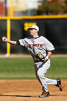 Matt Lopez of the Oklahoma State Cowboys during a game against the Cal State Northridge Matadors at Matador Field on February 23, 2007 in Northridge, California. (Larry Goren/Four Seam Images)