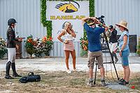 Karen Teague - Sky Sports. 2021 NZL-RANDLAB Matamata Horse Trial. Sunday 21 February. Copyright Photo: Libby Law Photography.