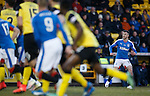 Andy Halliday fires a free-kick over a sea of players