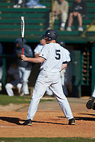 Bryce Fowler (5) of the Catawba Indians at bat against the Wingate Bulldogs at Newman Park on March 19, 2017 in Salisbury, North Carolina. The Indians defeated the Bulldogs 12-6. (Brian Westerholt/Four Seam Images)