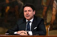 The Italian Premier Giuseppe Conte during a press conference at Palazzo Chigi to explain the new measures for the School. Rome (Italy), June 26th 2020<br /> Foto Pool Antonio Masiello/ Insidefoto