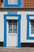 France, Pas-de-Calais (62), Côte d'Opale, Audresselles:  Détail habitat, maison de pêcheur //  France, Pas de Calais, Cote d'Opale (Opal Coast), Audresselles, Fisherman's house