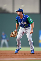 First baseman Nick Pratto (30) of the Lexington Legends plays defense during a game against the Greenville Drive on Saturday, September 1, 2018, at Fluor Field at the West End in Greenville, South Carolina. Greenville won, 9-6. (Tom Priddy/Four Seam Images)